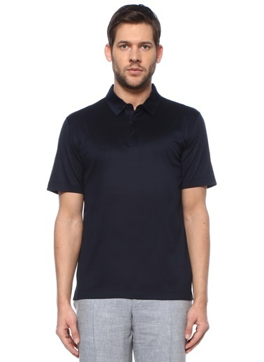 Canali Canali  Polo Yaka T-shirt 101600191 Lacivert